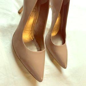 BCBG nude high heel